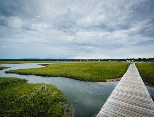 Sandwich boardwalk salt marsh